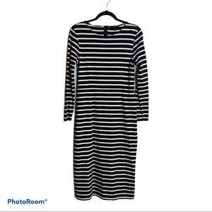 J Crew Navy Stripe Dress